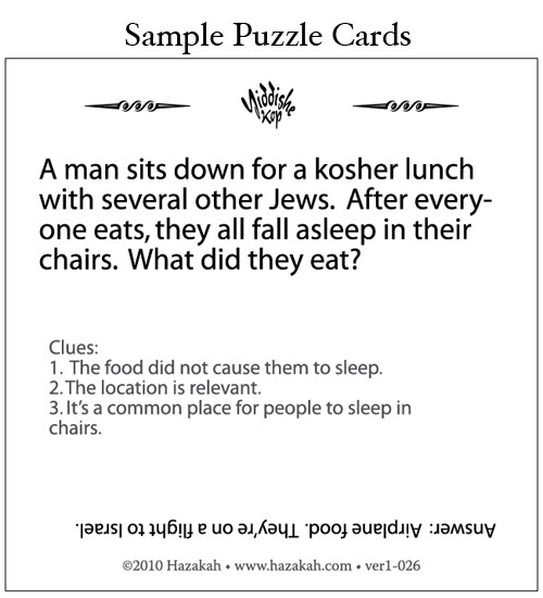 Hazakah : Jewish Games that Feed the Brain : Card Games